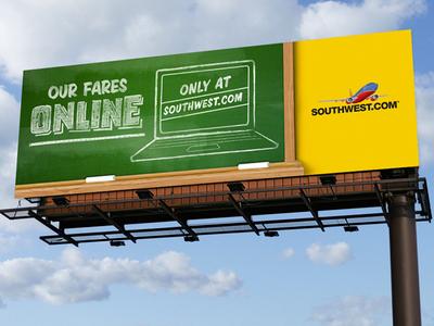 Southwest // Digital Billboard #3 branding illustration design typography