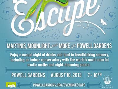 Evening Escape // Detail illustration typography branding