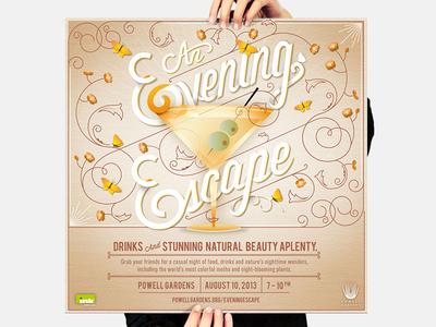Powell Gardens // Poster #3 illustration typography graphic design branding