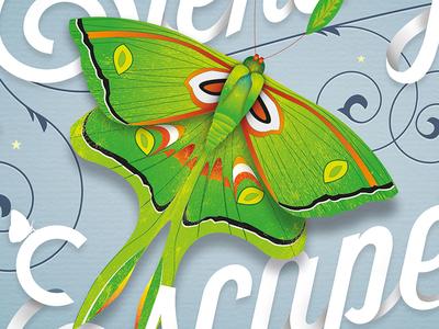 Powell Gardens // Poster #1 Detail illustration typography graphic design branding