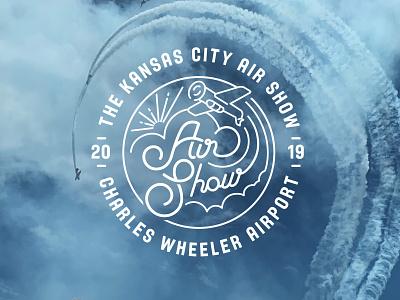 Kansas City Airshow Lettering identity design logo lettering branding design typography illustration