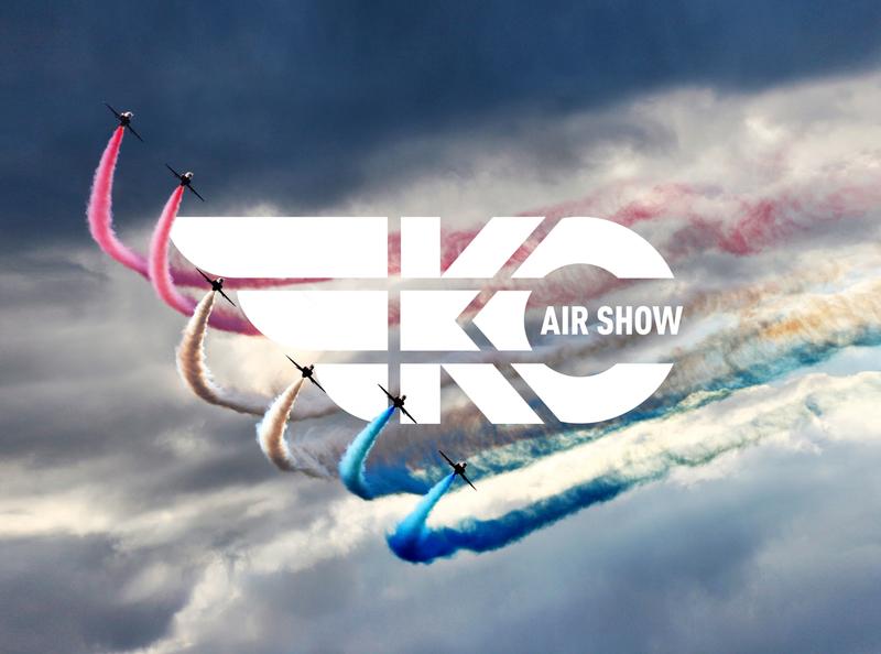 Kansas City Air Show Logo aviation festival lettering branding logo design identity design