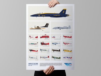 Limited Edition Kansas City Air Show Poster airplanes planes kc poster posterart festival poster airshow aircraft festival illustration