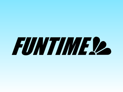 Funtime amusement park logo typography business graphic design dribbleweeklywarmup