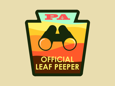 Leaf Peeper Badge fall colors pennsylvania autumn fall badge dribbleweeklywarmup