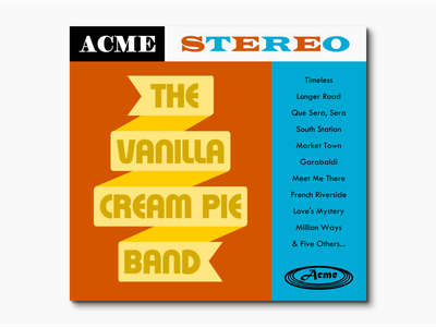 Record Album - The Vanilla Cream Pie Band music art music design graphic typography vintage retro records band album cover album record