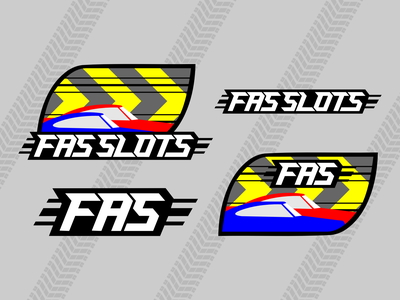 FAS SLOTS Slot Car Racing branding racing car fun hobby tire fast graphic logo car slot racing