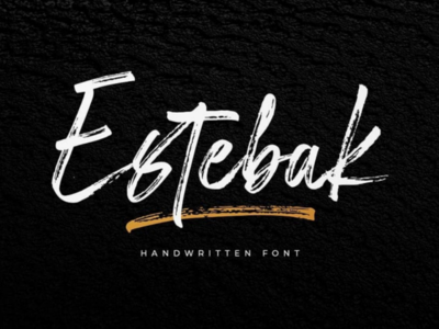 NEW PRODUCT  Estebak Brush Font
