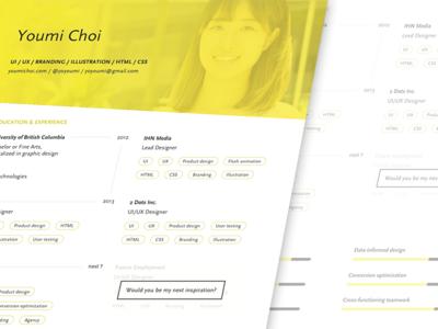 Branded resume