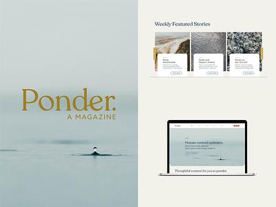 Ponder - Branding + Web Design (Concept) authors web designer web design website concept website design website audio player e-books product design ux vector ui minimal logo typography design graphic designer branding