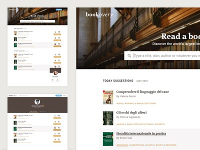 Bookovery library book web clean ui
