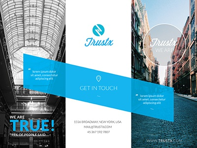 Corporate Tri Fold Brocure blue booklet brochure business catalog clean commerce corporate dance template tri-fold trifold