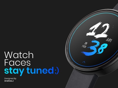 watch faces vector illustration animation web mobile clean watch smartwatch design ux ui