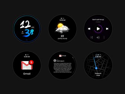 smartwatch faces smartphone smart vector watches smartwatch flat clean app design ux ui