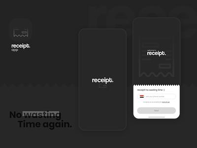receipt - group food order app food ordering app food order food app group food art ios mobile clean app flat design ux ui