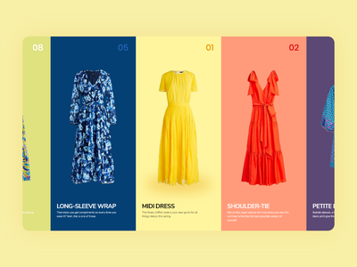 Dress - landingpage clean art illustration mobile web flat app design ux ui