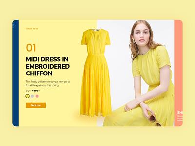 Dress - landingpage store clothes dress illustration mobile web clean app flat design ux ui