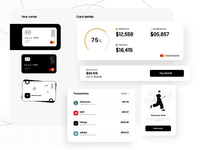 Credit Card Details vector illustration money credit cards minimal clean app flat design ux ui