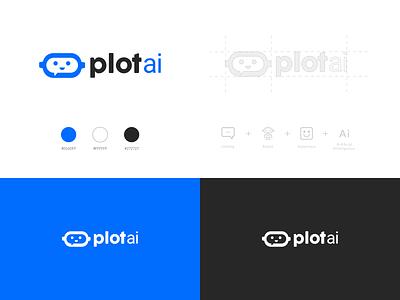 Plotai - ChatBot app graphicdesign minimalist minimal logodesign branding logo mobile illustration clean app flat design ux ui