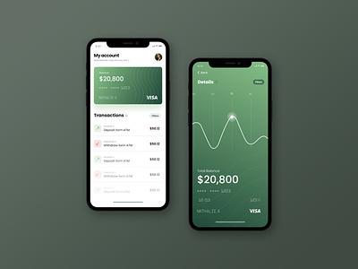 Online banking app concept uidesign money banking flat design ux ui ios app mobile clean