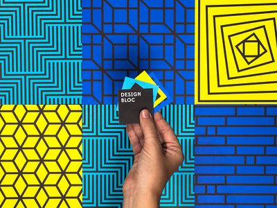 Design Bloc brand collateral print design saturated color pattern dynamic identity georgia tech branding identity design brand identity vis neon matchstic