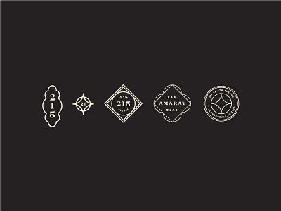 Little Amaray Assets badges visual identity system identity design iconography linework symbol matchstic florida amaray brand assets branding