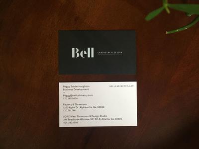 Bell Business Cards duplex foil letterpress business cards print visual identity brand identity branding design cabintetry bell matchstic