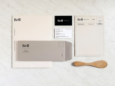 Feel Good Friday print design neutral interior design cabinetry visual identity branding stationery