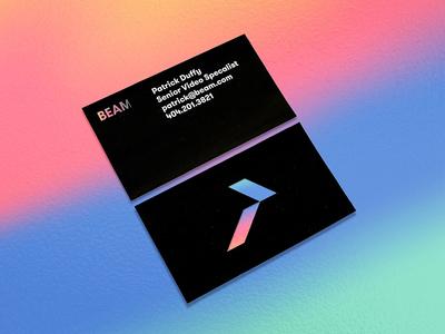 Holo dynamic logo branding colorful matchstic beam slant light foil holographic