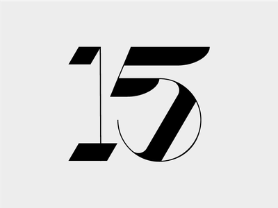 Digits wip one five typography numbers numerals 15