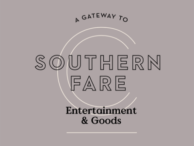 Southern Fare typography cuisine eatery hospitality restaurant food southern