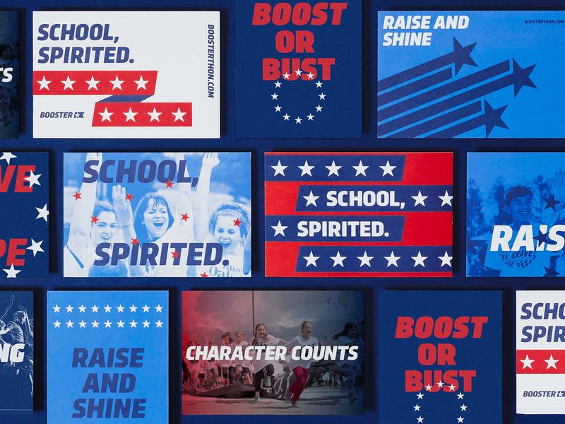 Booster matchstic energy hype trasandina run apparel sporty stars school fundraiser