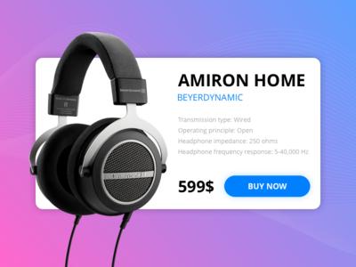 Beyerdynamic shopping cart sopping cart product modal material music e-commerce clean interface ui headphone amiron home beyerdynamic