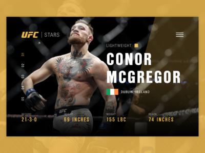 UFC McGregor Page landing card page site ui web fight fighter mma mcgregor conor ufc