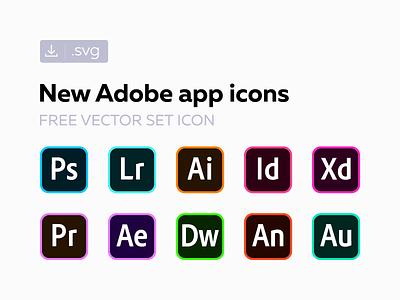 Free new Adobe СС icons freebie creative cloud cc svg vector set icon adobe 2018 2017 original