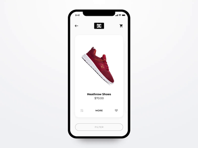 DC Shoes UI animation madewithadobexd keds sneaker web design ux ui app mobile ecommerce shoes dc