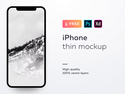 Free mockup for iPhone X and XS vector adobe photoshop xd psd phone iphone mock up mockup free madewithadobexd freebee