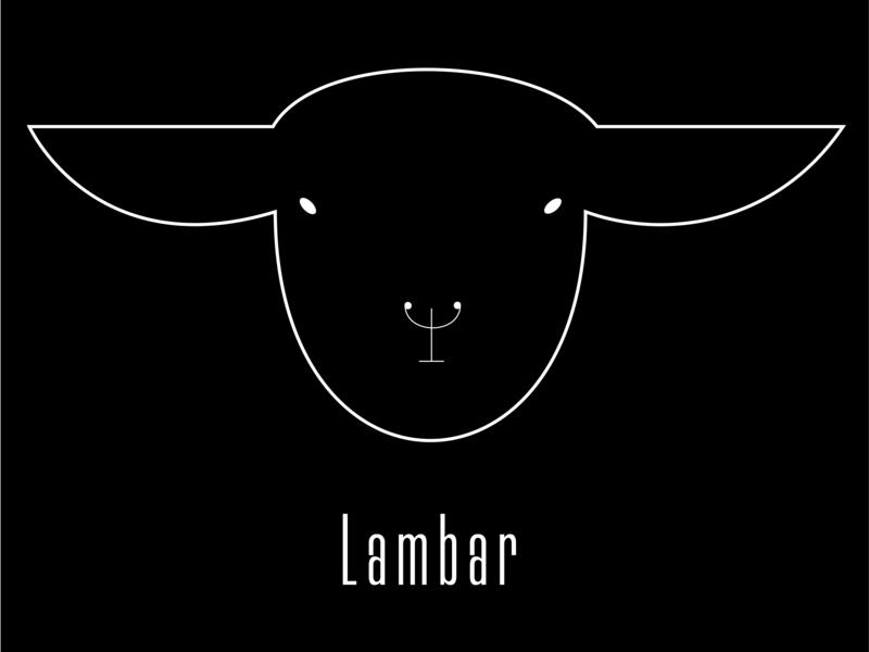Lambar logo - premium lamb bar flat icon minimal typography branding vector illustration logo adobe animal 2d