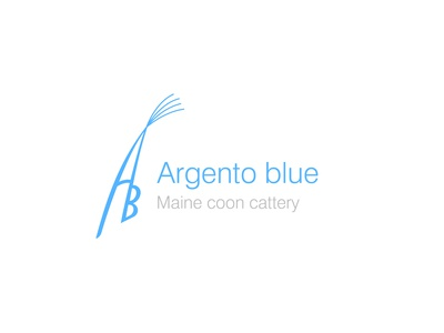 Argento blue cattery logo