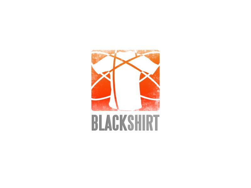 Blackshirt badge shirt orange