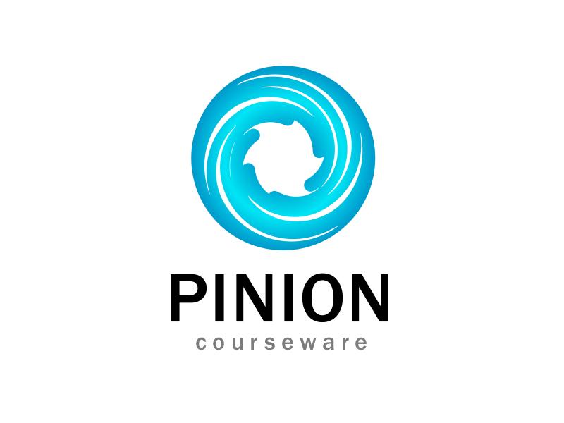 Pinion Courseware Blue blue circle simple swirl
