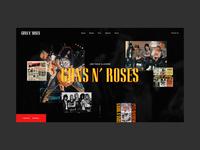 Guns N' Roses - Website Concept