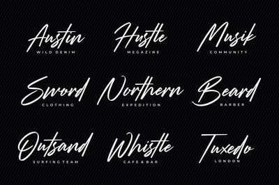 Logotype with Strude Font