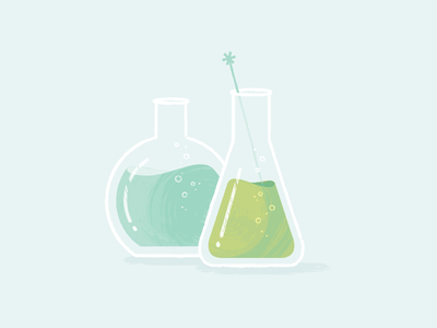 Beakers illustrator spot illustration vector texture bubbles chemistry test tube beaker