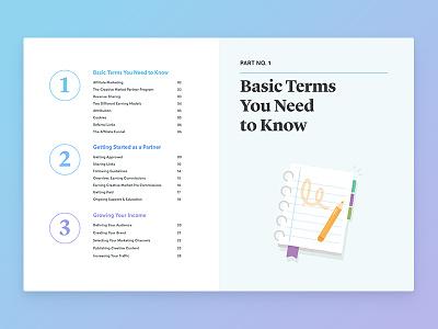 Ebook Spread branding typography design layout ebook