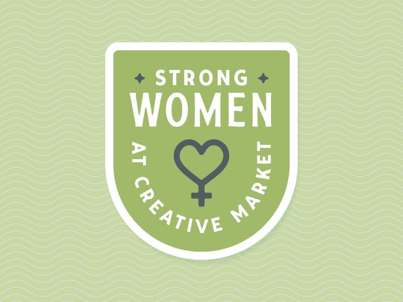 Women at Creative Market women print patch branding badge
