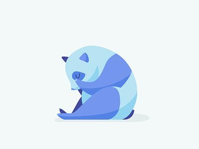 Sad Panda 404 animal panda illustrator vector branding illustration