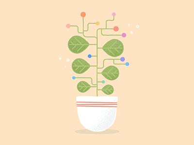 Grow Your Career grow career engineer plant vector branding illustration