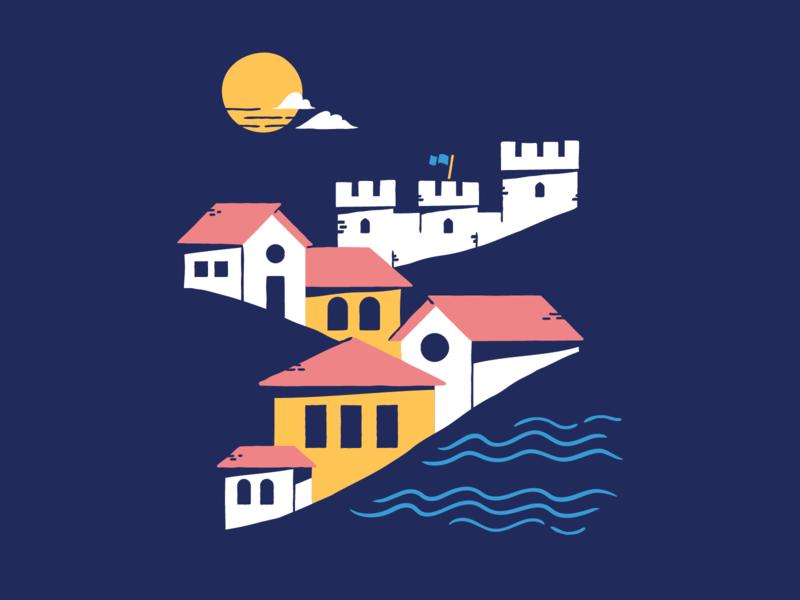 Lisbon Tee swag lisbon portugal illustration retreat shirt tee