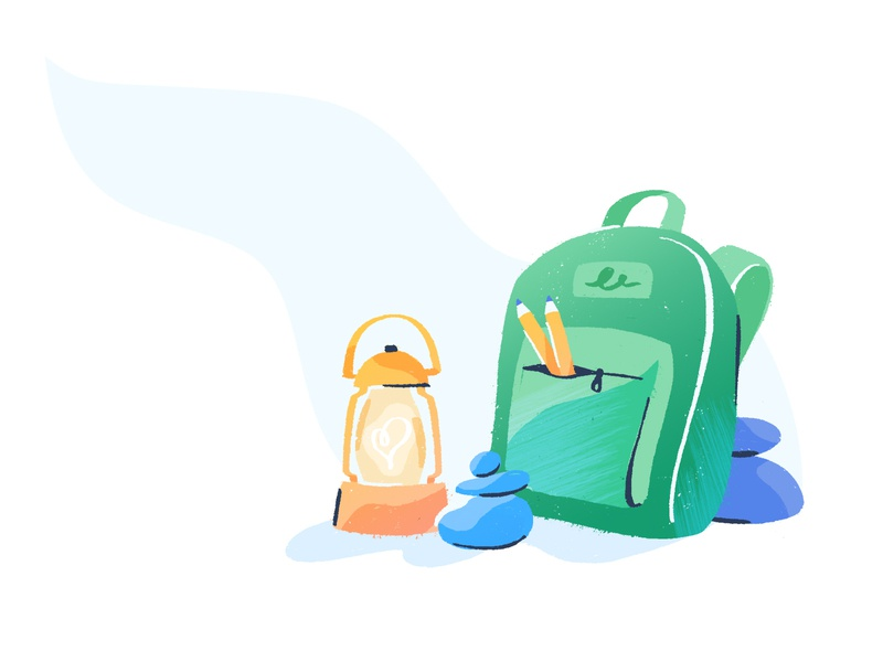 Backpack illustrator brush branding drawing texture illustration